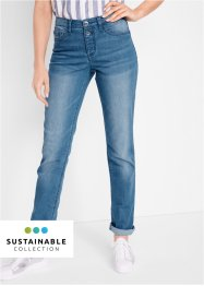 Jeans in poliestere riciclato sostenibile slim fit, bpc bonprix collection