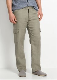 Pantalone cargo in puro lino regular fit, bpc bonprix collection