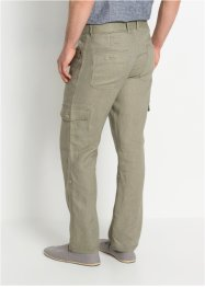 Pantaloni cargo regolabili in puro lino regular fit, bpc bonprix collection