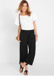 Pantaloni culotte in viscosa fluente, bpc bonprix collection