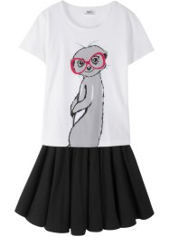 T-shirt + gonna (set 2 pezzi), bpc bonprix collection