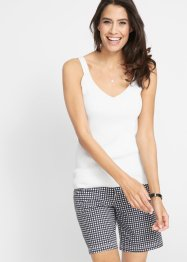 Top in filato fine di misto lino, bpc bonprix collection
