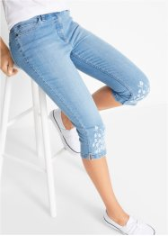 Jeans 3/4 con bordura stampata, bpc bonprix collection