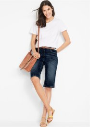 Shorts di jeans elasticizzati in look usato, bpc bonprix collection