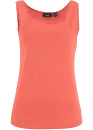 Top in jersey con pizzo, bpc bonprix collection