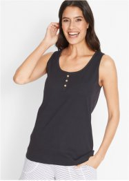 Top in maglina con abbottonatura, bpc bonprix collection