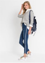 Jeans super skinny cropped con glitter, RAINBOW