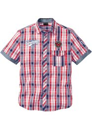 Camicia a maniche corte in fantasia a quadri, bpc selection