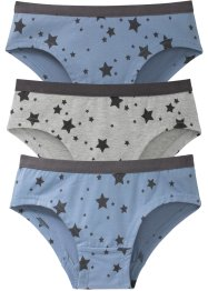 Panty (pacco da 3) in cotone biologico, bpc bonprix collection