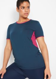 T-shirt per sport con mesh, bpc bonprix collection