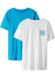 T-shirt basic (pacco da 2), bpc bonprix collection