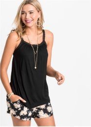 Top in jersey con bordo di pizzo, RAINBOW