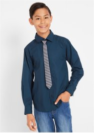 Camicia a maniche lunghe e cravatta (set 2 pezzi) slim fit, bpc bonprix collection