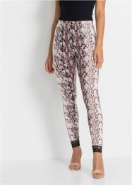 Leggings animalier con pizzo, BODYFLIRT