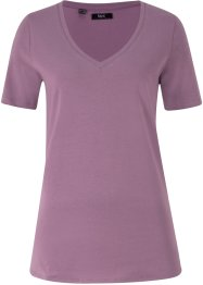 T-shirt con scollo a V profondo, bpc bonprix collection
