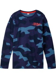 Maglia a manica lunga in fantasia camouflage, bpc bonprix collection