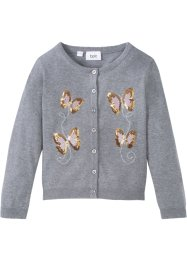 Cardigan in cotone con paillettes, bpc bonprix collection