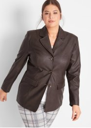 Blazer lungo in similpelle, bpc bonprix collection