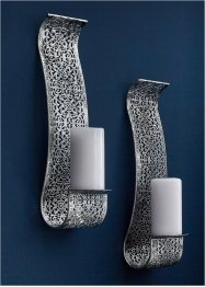 Portacandele da parete con arabeschi (set 2 pezzi), bpc living bonprix collection