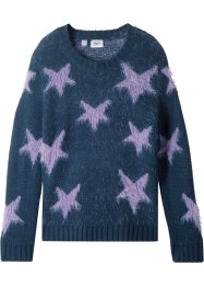 Pullover in filato soffice con stelle, bpc bonprix collection