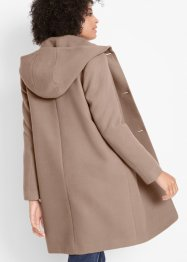 Cappotto corto in simil lana con cappuccio, bpc bonprix collection