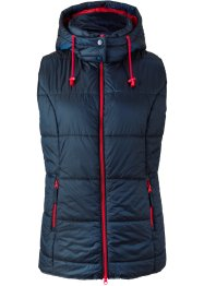 Gilet trapuntato con cappuccio rimovibile, bpc bonprix collection