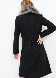 Cappotto con collo in ecopelliccia, bpc selection
