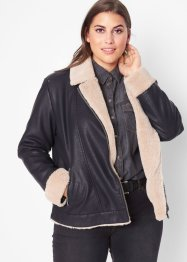 Giacca in similpelle foderata, John Baner JEANSWEAR