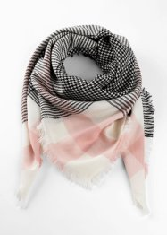 Foulard a triangolo con fantasia pied de poule, bpc bonprix collection