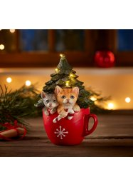 Albero di Natale a LED e gatti in tazza, bpc living bonprix collection