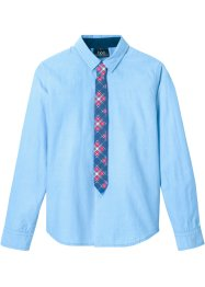 Camicia slim fit e cravatta (set 2 pezzi), bpc bonprix collection