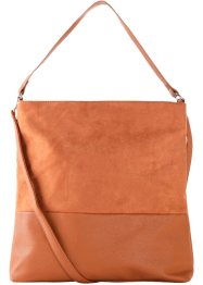 Borsa shopper in similpelle scamosciata, bpc bonprix collection