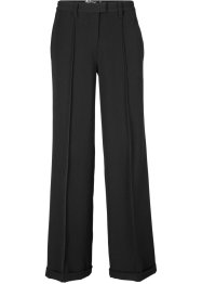 Pantaloni elasticizzati con pieghe stirate wide leg, bpc bonprix collection