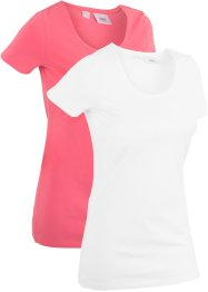 T-shirt sportiva lunga (pacco da 2), bpc bonprix collection