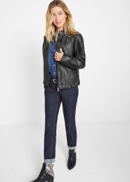 Giacca in similpelle effetto lavato, John Baner JEANSWEAR