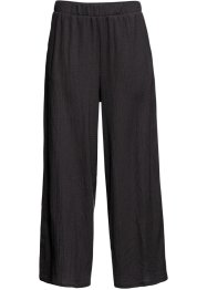 Pantaloni larghi cropped in jersey, BODYFLIRT