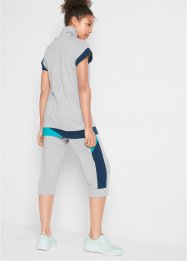 T-shirt lunga e pantaloni capri (set 2 pezzi), bpc bonprix collection