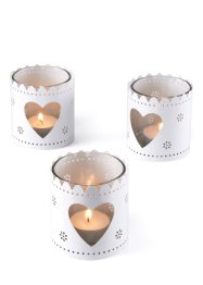 Portalumini con cuore (pacco da 3), bpc living bonprix collection