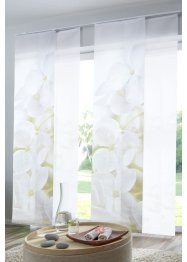 Tende a pannello con orchidee (set 2 pezzi), bpc living bonprix collection