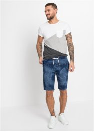 Bermuda in felpa effetto jeans regular fit, RAINBOW