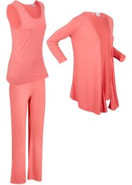 Top, giacca, pantaloni sostenibili (set 3 pezzi), bpc bonprix collection