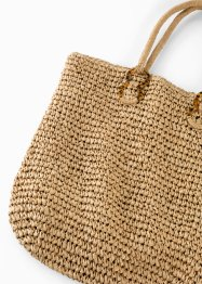 Borsa shopper di paglia, bpc bonprix collection