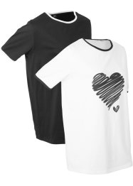 T-shirt sportiva lunga in confezione da 2, bpc bonprix collection