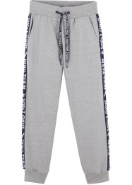 Pantaloni in felpa con bande laterali, bpc bonprix collection