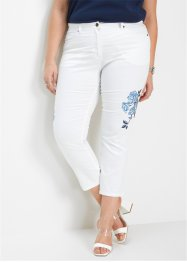 Jeans cropped con ricamo, bpc selection