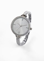 Orologio in metallo con cristalli Swarovski®, bpc bonprix collection