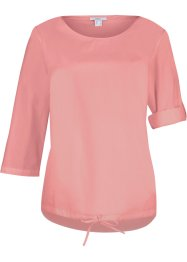 Blusa asimmetrica in cotone, bpc bonprix collection