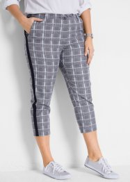 Pantaloni cropped in twill a quadri, bpc bonprix collection