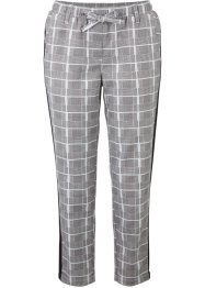 Pantaloni cropped in twill a quadri con cinta comoda, bpc bonprix collection