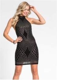 Abito elegante con scollo all'americana e strass, BODYFLIRT boutique